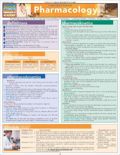 Pharmacology (Quick Study Academic) 1 Lam Crds Ed