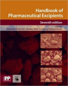 Handbook of Pharmaceutical Excipients 7 Updated Ed