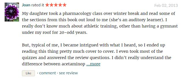 User reviews on Pharmacology –