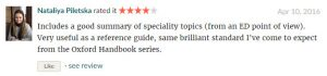 Readers Reviews on Oxford Handbook of Emergency Medicine